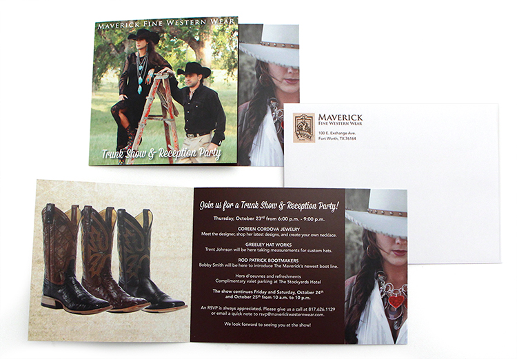 Maverick Trunk Show Direct Mail