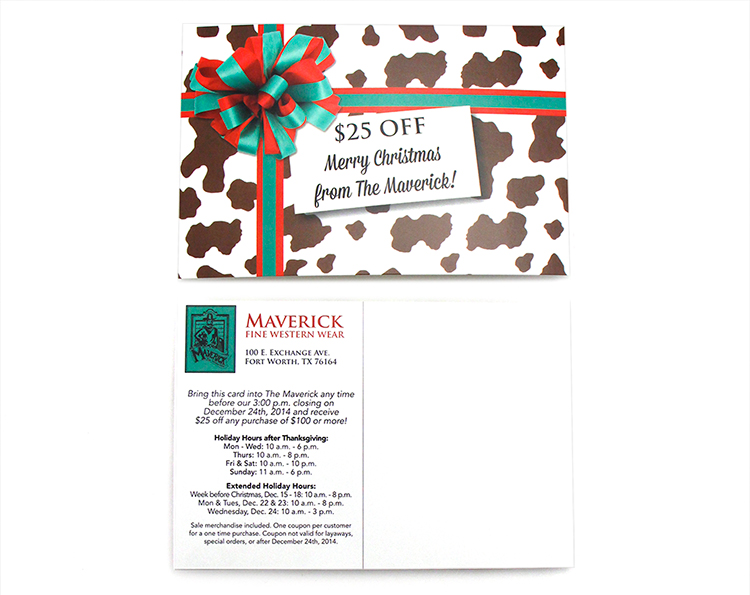 Maverick Holiday Coupon Direct Mail