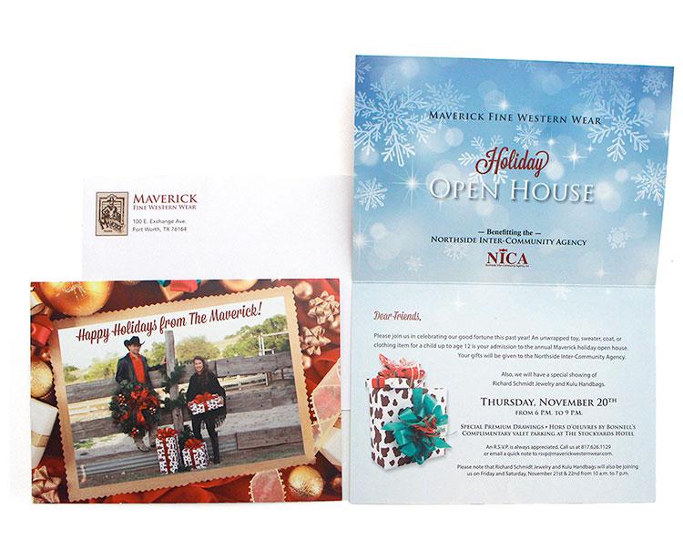 Maverick Holiday Direct Mail Invitation